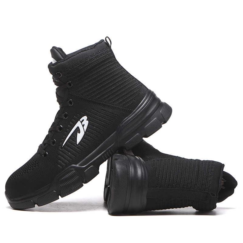 Kış yeni erkek Anti-Smashing pamuk çelik ayak iş ayakkabısı yüksek Top çizmeler ile kürk erkekler delinme geçirmez güvenlik ayakkabıları