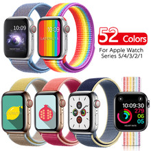 Correa para Apple Watch 44mm 40mm Correa Nylon iWatch Correa serie 5 4 3 2 deporte Loop 42mm 38mm pulsera Correa accesorios nuevo(China)