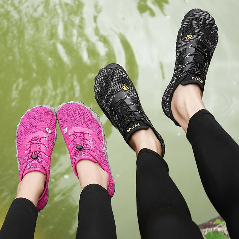 ฤดูร้อนรองเท้าน้ำรองเท้า Barefoot Beach รองเท้าแตะต้นน้ำ Aqua รองเท้าผู้หญิงดำน้ำว่ายน้ำถุงเท้าแห้ง Tenis Masculino