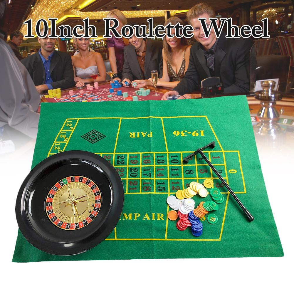 10 Inch Tabletop Turntable Russian Roulette Wheel Poker Chips Set Fun Leisure Entertainment Table Games For Adults Children Board Games Aliexpress