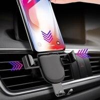 Soporte de teléfono para coche, accesorio de lujo con bloqueo automático por gravedad, montaje en rejilla de ventilación, para iPhone 11 Pro