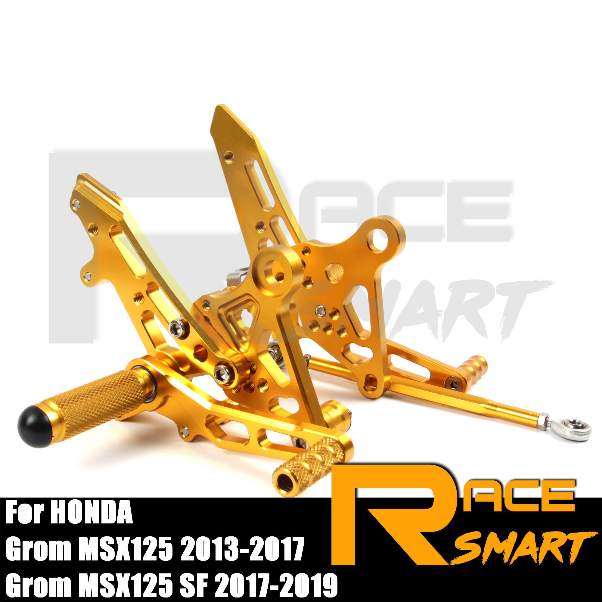 CNC Adjustable Rearset For HONDA Grom MSX125 SF 2017 2018 2019 Rear Footrests Foot Rest Pegs Pedal Motorcycle Accessories