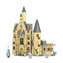 цена на Compatible 75948 Potter Movie Serices Clock Tower Hall Sets Model Building Blocks Bricks Kids Toys Christmas Gift for Children