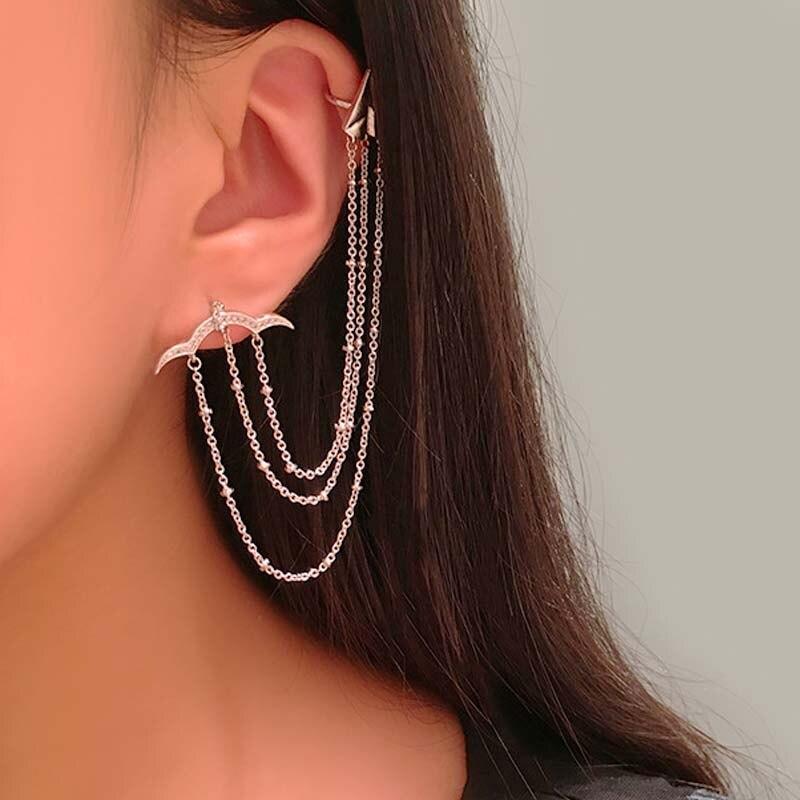 Dazz à la mode gland Clip boucles d'oreilles pendentif belle CZ Zircon argent bijoux robe de soirée dames oreille accessoires de mode cadeau 2019