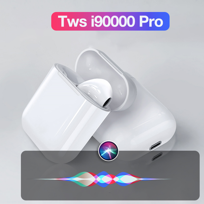TWS I90000 Pro Wireless Headphone Bluetooth Earphone Handsfree 8D Stereo For Xiaomi Huawei Samsung Earbuds With Dual Microphone
