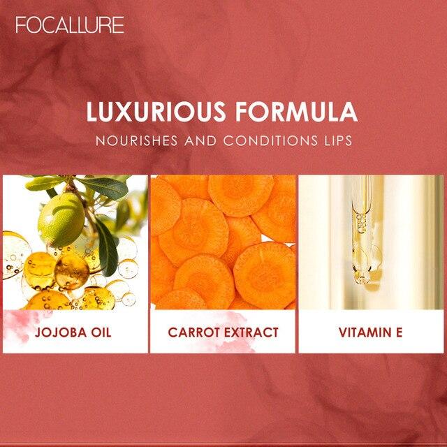 FOCALLURE Staymax Matte Liquid Lipstick Lip Makeup Long Lasting Kissproof Nourish Lip Tint Lightweight formula Liquid Lipstick 2