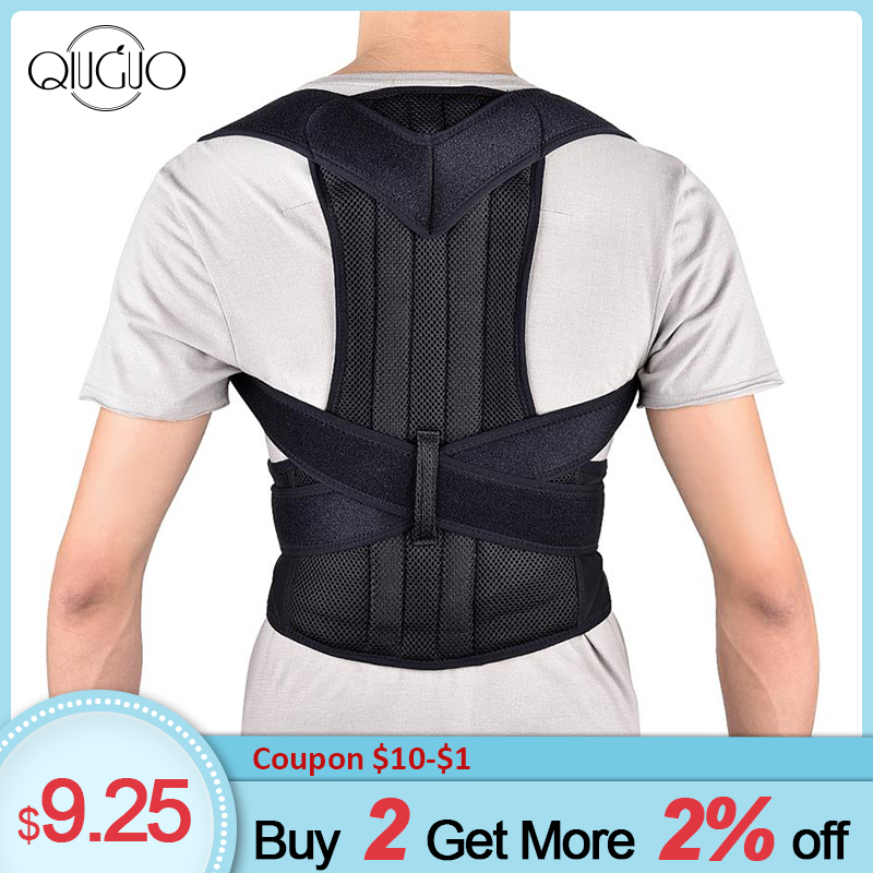 Lightweight Back Brace Posture Corrector Full Back Support Belts For Relief Back Shoulder Lumbar Pain Brace Spine Support Belt
