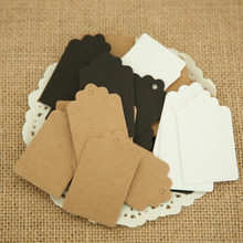 100pcs 5*3cm Kraft Paper Tags Blank Cookie Gift Hang Tag Labels Product Gift Package Crafts Baking Shope Price Tag Paper Label