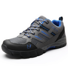 Couple models mesh breathable outdoor hiking shoes women mountain climbing hunting boot