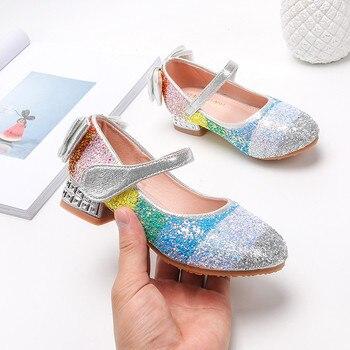 Sandalias de niña, zapatos de niña de princesa de cristal, suelas blandas,...