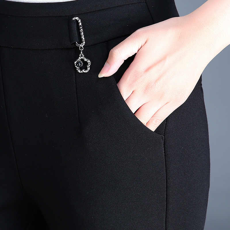 2020 yeni kış kadın kalın sıcak kalem pantolon rahat elastik bel sıska pantolon kore Slim Fit yüksek bel pantolon M-4XL