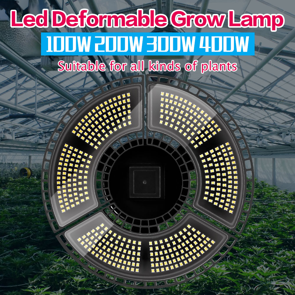 Waterproof LED Grow Light E27 LED Plant Growth Lamp 100W 200W 300W 400W E26 Flower Seeds Growing Light LED Full Spectrum Bulb