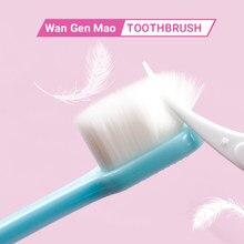 Cepillo de dientes micronano suave para uso en exteriores, cepillo de dientes delgado de cabeza pequeña con cerdas de 20000 para encías delicadas, para chico adulto, viaje en casa, 1 unidad