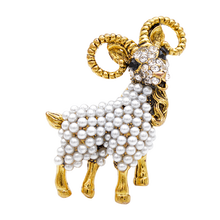 YoungTulip Goat shape Brooch Vintage Fashion beautiful pearl Animal Pin Fashion Coat Brooches Women And Men Jewelry gift pins рама белоснежка paula 2024 bb