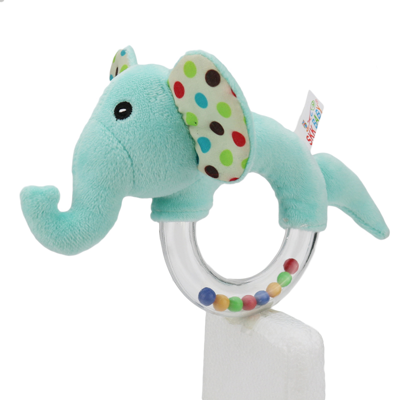 New New Animal Baby Plush Toy Cat/Puppy/Elephant/Rabbit/Bear/Monkey Rattle Baby Listening Grip Sensory Hand Bell Appease Gift