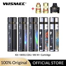 цена на New Arrival Original 80W Wismec R80 kit 4ml Cartridge with WV01 /WV-M coil head  no Single 18650 battery Electronic Cigarette