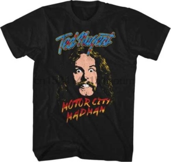 S-M-L-XL-2XL Brand New - Official - T SHIRT Motor City Madman TED NUGENT - image