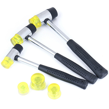 Rubber Hammer Handheld-Tool Plastic Soft for Double-Face Coated-Grip Black 25/30/35mm