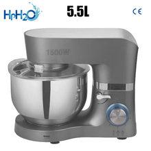 Comercial 1500w multifuncional misturador de massa doméstica misturador comida elétrica 5.5l ovo creme salada batedor misturador do bolo