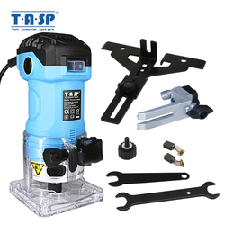 TASP 600W Elektrische Laminat Rand Trimmer Mini Holz Router 6,35mm Collet Carving Maschine Zimmerei Holzbearbeitung Power Tools