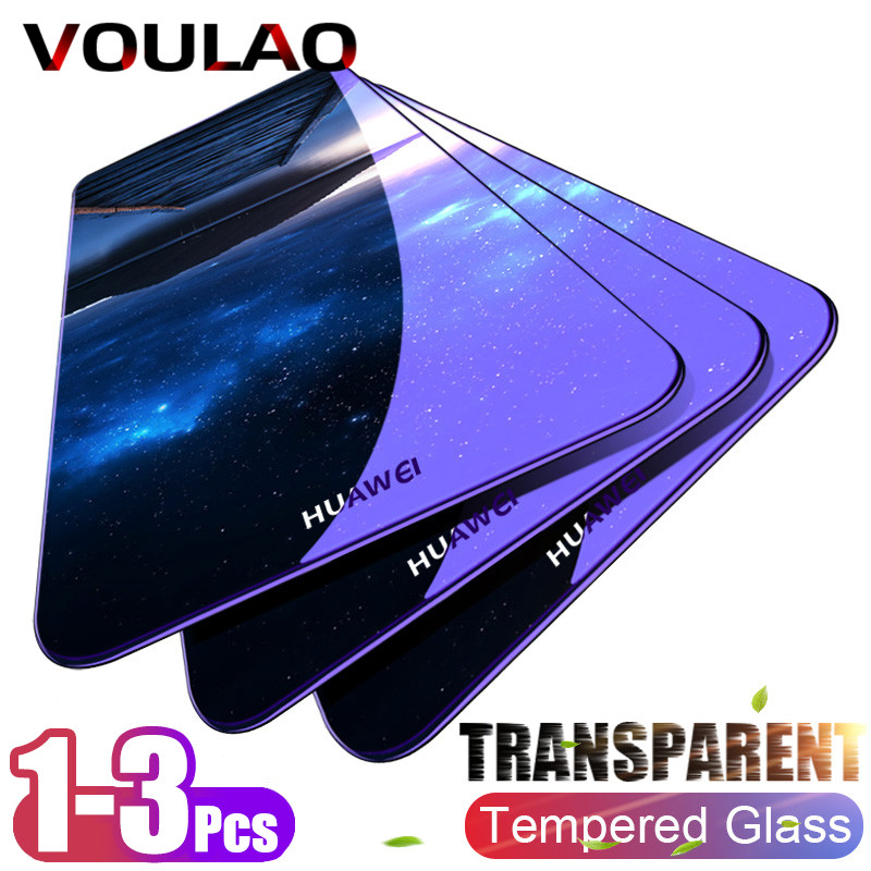 VOULAO 1-3Pcs 9H Tempered Glass For Huawei P30 P20 P10 Lite P30 Screen Protector Glass For Huawei P Samrt P10 P20 P30 Pro Film
