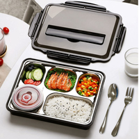 Japanese Lunch Box Portable Stainless Steel 304 Adult Thermal Bento Lunch Box Set for Kids Leak Proof Food Container Lunchbox