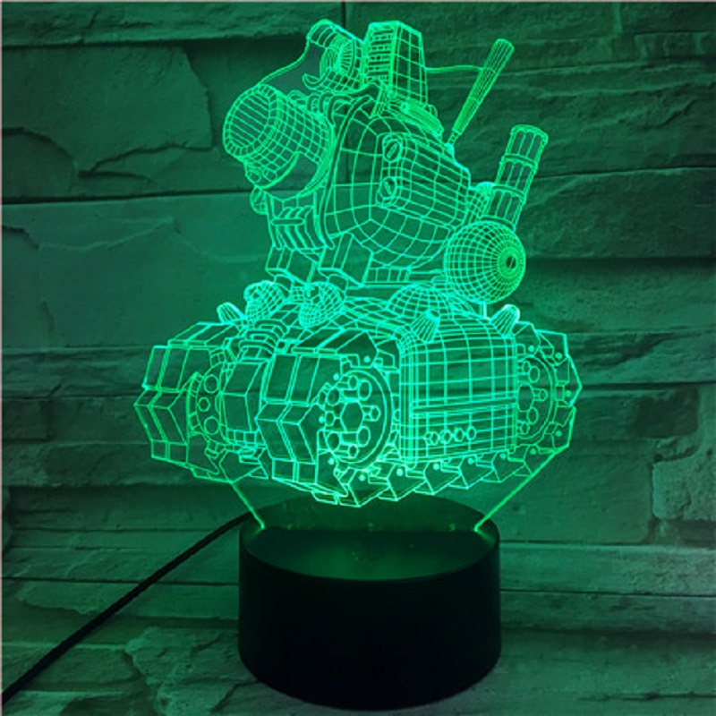 Cartoon <font><b>3D</b></font> Table Lamps <font><b>Car</b></font> 7 Color Change For Living Room Remote Touch Switch Desk Lamp <font><b>Led</b></font> Table Decor <font><b>Night</b></font> <font><b>Light</b></font> image