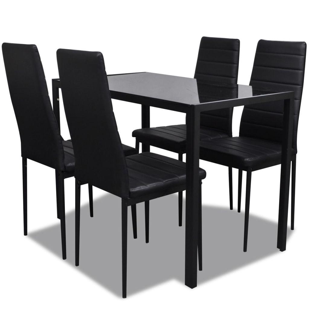 table a manger en verre trempe avec 4 pieces chaises noir western ensemble de table a manger table en verre cuisine table a manger ensemble de meubles
