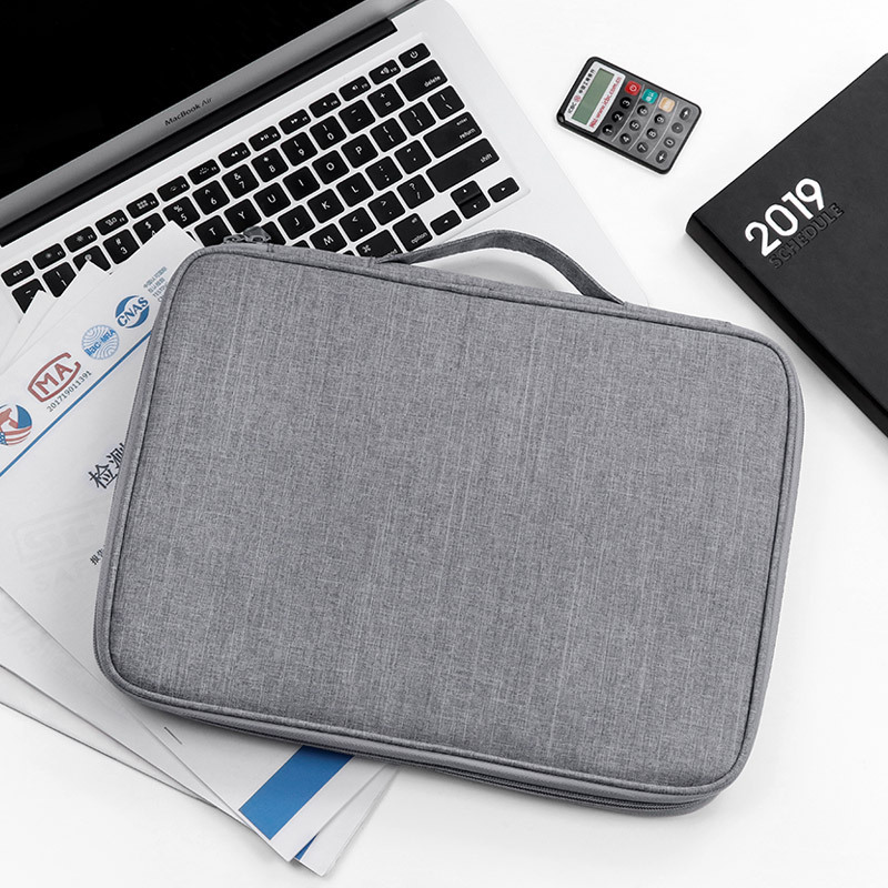 Men Business Essential Document Storage Bag Certificate Glasses Magazine Organizer Digital USB Card Collect Box Travel Accessori
