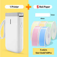 D11 Wireless label printer Portable Pocket Label Printer Portable BT Thermal Label Printer Fast Printing Home Use Office Printer