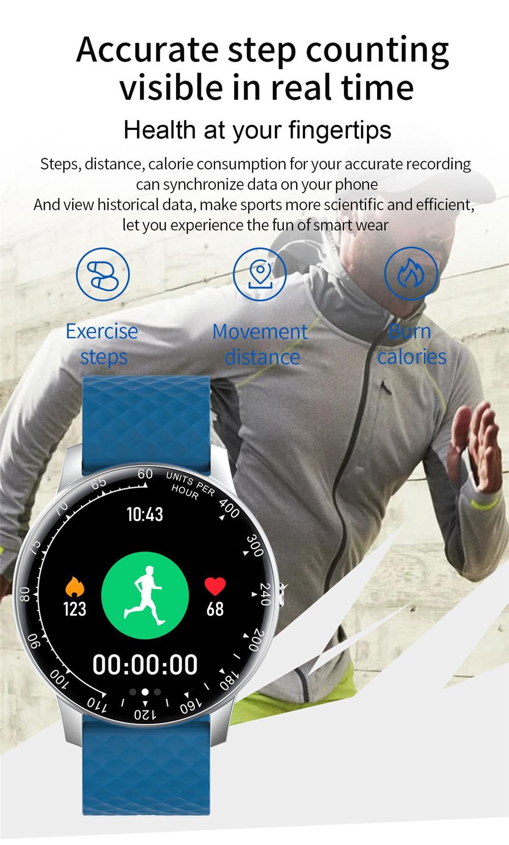 Relógio inteligente para android ios telefone masculino