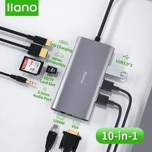 Llano Тип c док станция usb до 30 совместимому с hdmi vga/sd/usb