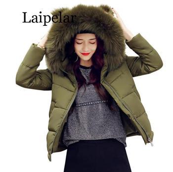 Laipelar 2019 New Big Collar Hoody Women's Winter Jacket Women's Park Slim Short Women's Down Jackets 4 Colors S-XXL