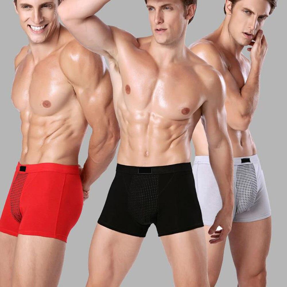 men's underwear 48 magnet health underwear Underwear Men Boxer Men magnet Health Care Function Mesh Breathable Shorts Plus Size