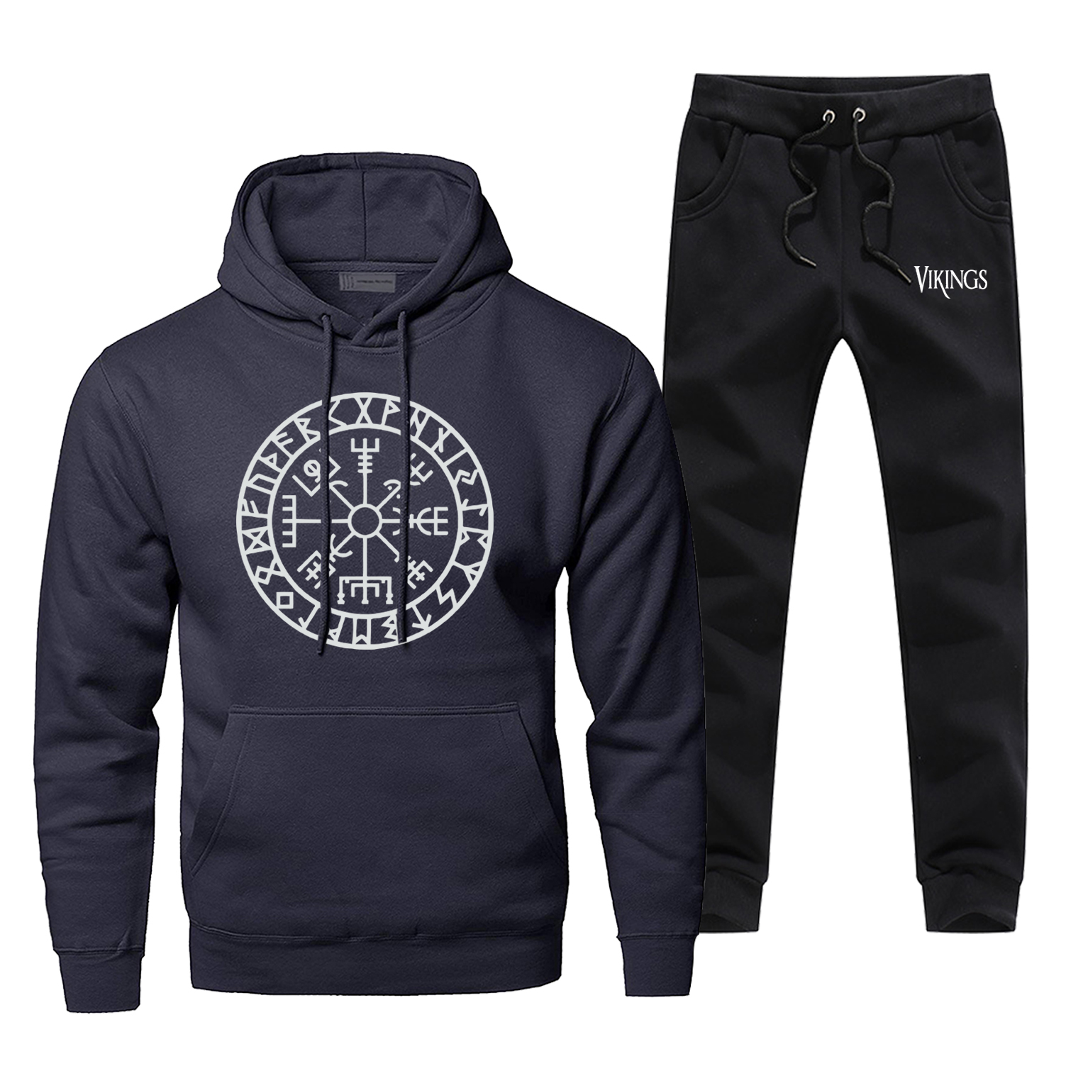 Odin Vikings Hoodie Pants Set Men Sweatshirt Male Hoodies Sweatshirts Odins Viking Mens Sets Two Piece Pant Pullover Hoody Coat