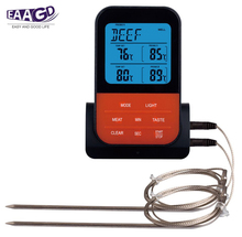 EAAGD Wireless Digital BBQ Meat Thermometer Accessories Grilling Cooking Kitchen Tools  Instant 2 Read Probes Included ch 102 foldable instant read digital meat thermometer