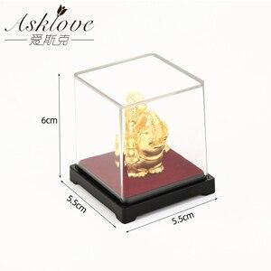 Image 5 - מזל פיל פנג שואי דקור 24K זהב לסכל פיל פסל צלמית משרד קישוט מלאכות לאסוף עושר בית משרד דקור