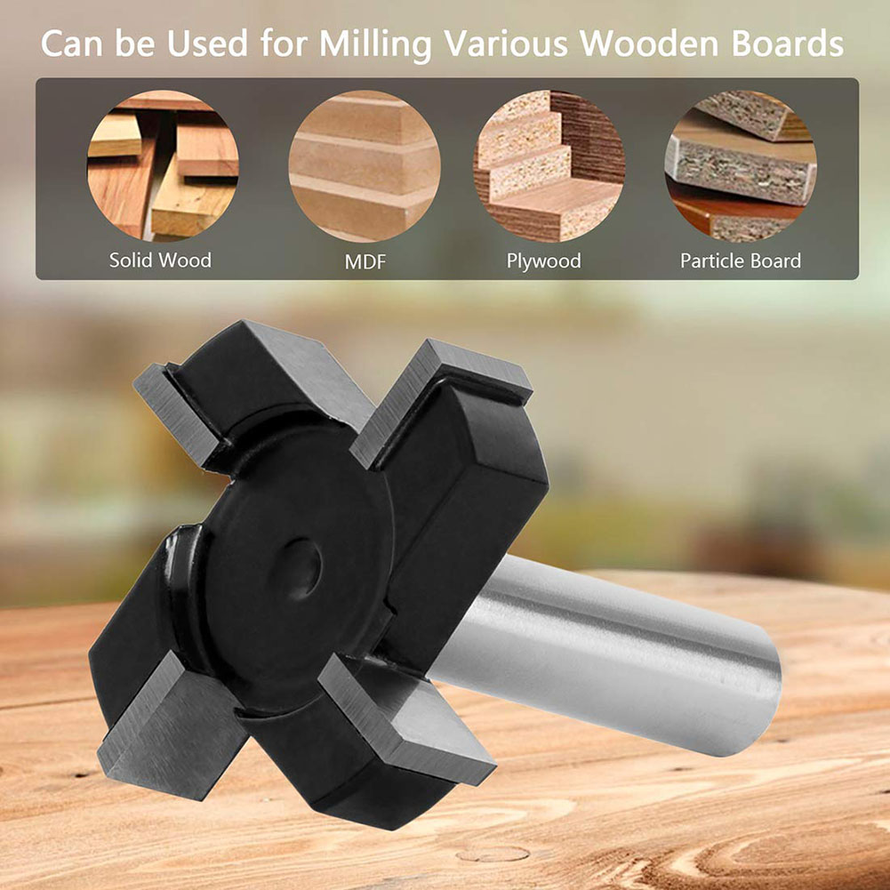 Shank CNC Spoilboard Surfacing Router Bit Wood Milling Cutter Planing Tool Woodworking Tools Slab Flattening Router Bit 1/2
