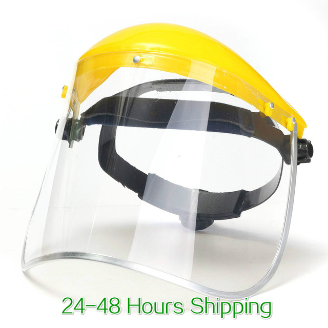 Anti-Saliva Dustproof Mask Transparent PVC Safety Faces Shields Screen Spare Visors Head helmet Respiratory protection mask