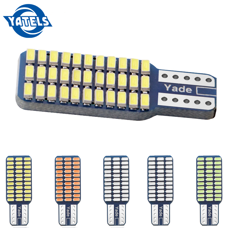 1 PCS T10 192 194 168 W5W LED Bulbs 33 SMD 33 Led 3014 Car Tail Lights Dome Lamp  DC 12V Canbus Error Free Red Blue Car Styling
