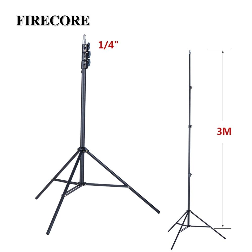FIRECORE Metal Tripod 3M Laser Level Nivel Laser Tripod For Laser Level 4 Knots Adjustable 1/4