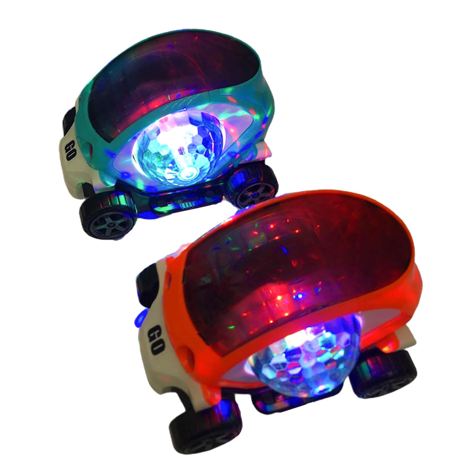Colorful Space Capsule Car with Cool Lighting Music Projection Lamp Children Interactive Toy Gift