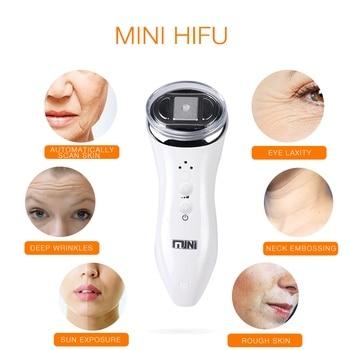Ultra-sônico mini hifu bipolar rf radiofrequência massageador face lifting beleza terapia anti-rugas rejuvenescimento da pele em casa spa
