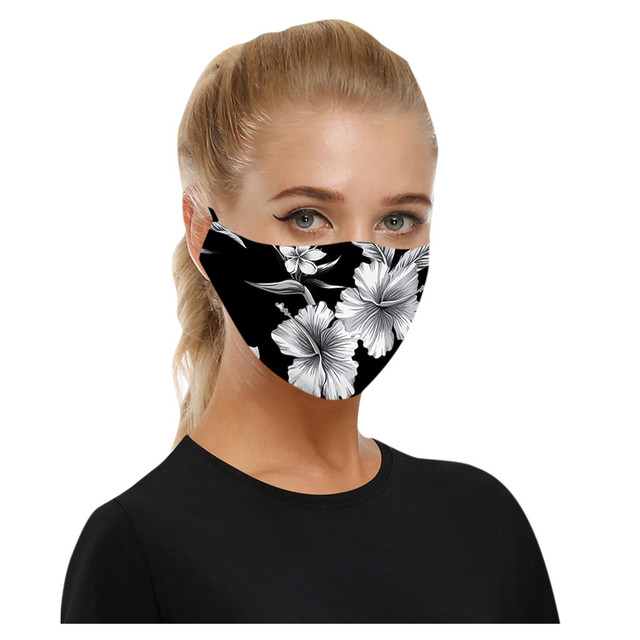 5pcs reusable mask Care face washable pm25 Anti-pollution facial masks flu Washable 3D Ice Silk Cotton Earloop Mask Mouth cap 3