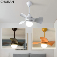 Led Ceiling Fans Lights Kids Room Modern Ceiling Lamp Simple LED DC 220v 110V Household Ventilator Ceiling Lamps Remote Control
