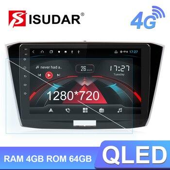Isudar H53 4G Android 1 Din Auto Radio For VW/Volkswagen/Passat b8 Magotan 2015 Car Multimedia GPS 8 Core RAM 4GB Camera USB DVR