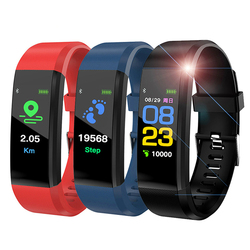 115 Plus Smart Bracelet Watch Men Women Waterproof Heart Rate Wristband Blood Pressure Fitness Tracker Smartband for IOS Android