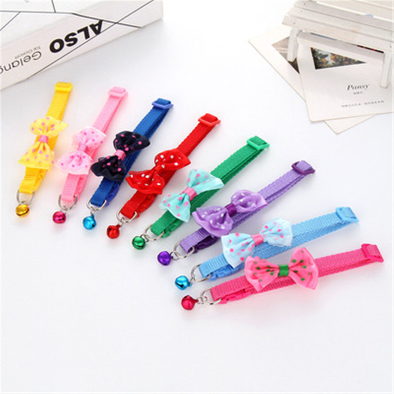 30/50pcs Pet dog cat flower with crystal Collar Dog Accessories Bow Tie Puppy Cat Small dogs Collar Decoration Products