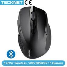 TeckNet Bluetooth עכבר אלחוטי מחשב נייד עכבר 1200/1600/2000/2600DPI שני AAA סוללה Bluetooth עכברים מחשב נייד Windows