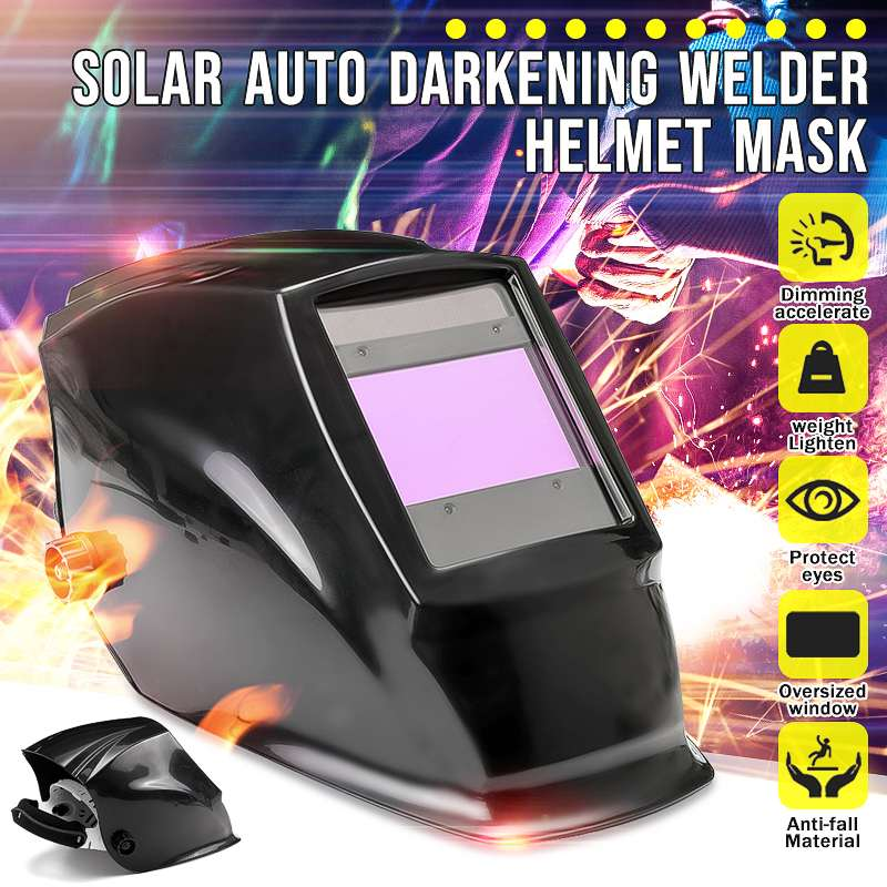 Big View Area Solar Auto Darkening Welding Adjustable Range 4/9-13 MIG Helmet Mask For Arc Mig Tig Weld